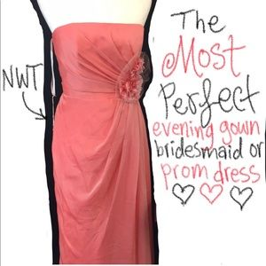 Gorgeous evening gown bridesmaid or prom dress